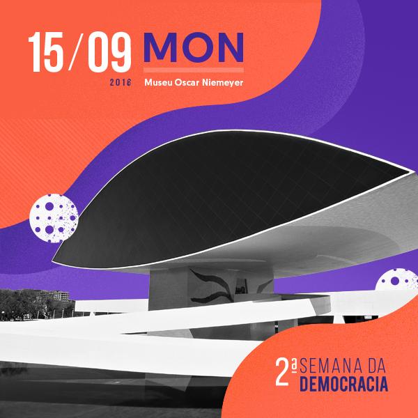 2a Semana da Democracia ocorre em setembro em Curitiba; Inscrições em de 7 de julho