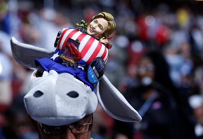 Burro é um dos símbolos do Partido Democrata, que enfrenta divisão de eleitores devido a disputa entre Hillary e Sanders