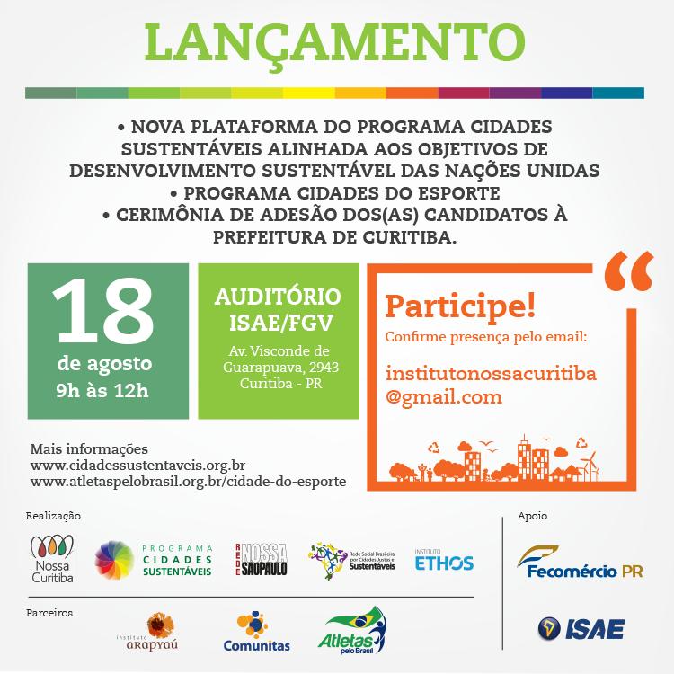 Eleições: Candidatos à Prefeitura de Curitiba vão firmar compromisso com a cidade