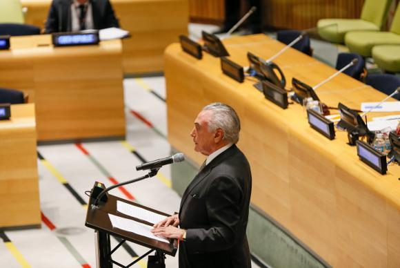 Temer faz nesta terça discurso de abertura da Assembleia Geral da ONU