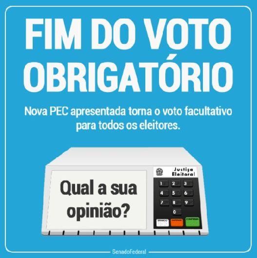 PEC: Voto pode deixar de ser obrigatório