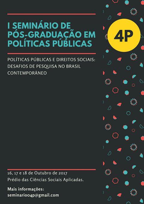 I Seminário em Pós-Graduação de Políticas da UFPR recebe inscrição de trabalhos