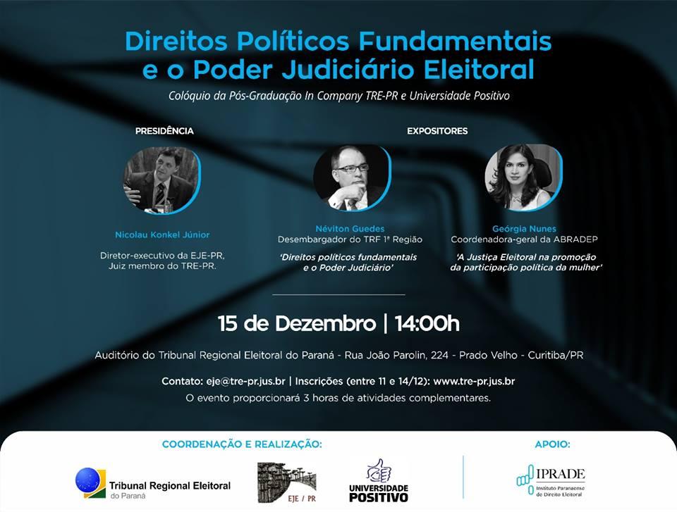 Direitos Políticos e Justiça Eleitoral tematizam colóquio