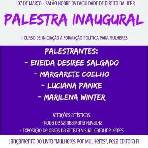 ATUALIZADO: CEL integra realização do II Curso de Formação Política para Mulheres
