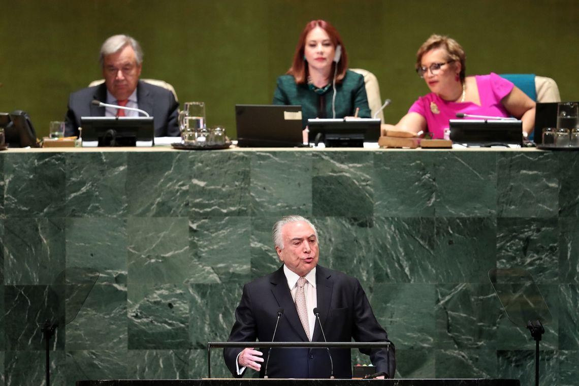 Michel Temer na ONU: o Brasil da 'normalidade'