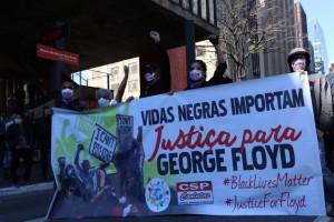 A morte de George Floyd por policiais nos EUA provocou uma onde protestos em todo o mundo contra o racismo. Crédito da foto: Pam Santos/Fotos Públicas