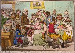 The cow-pock (1802), por James Gilray.