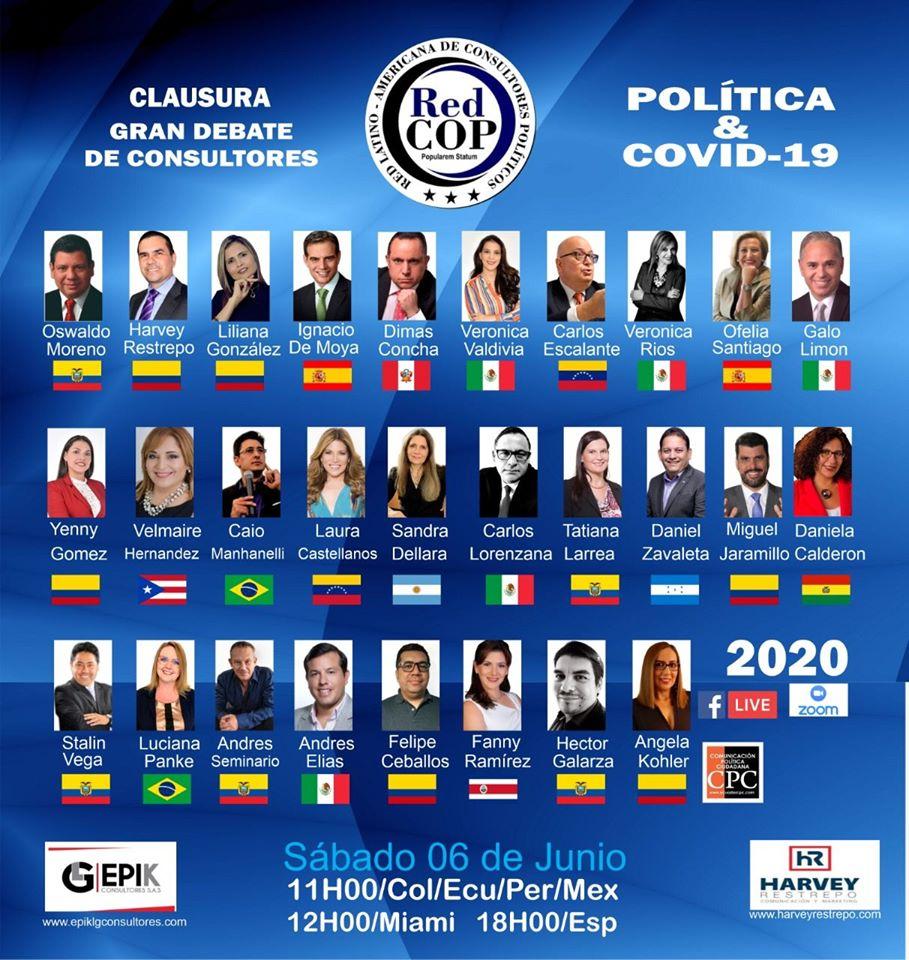 Evento online sobre Política e Covid-19 conta com 28 profissionais da Comunicação Política da América Latina