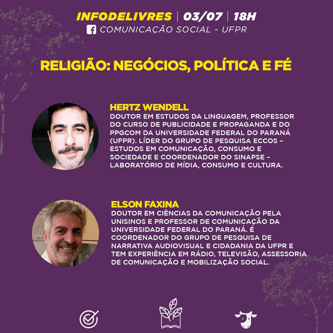 Religião, negócios, política e fé é tema do debate do InfoDelivres