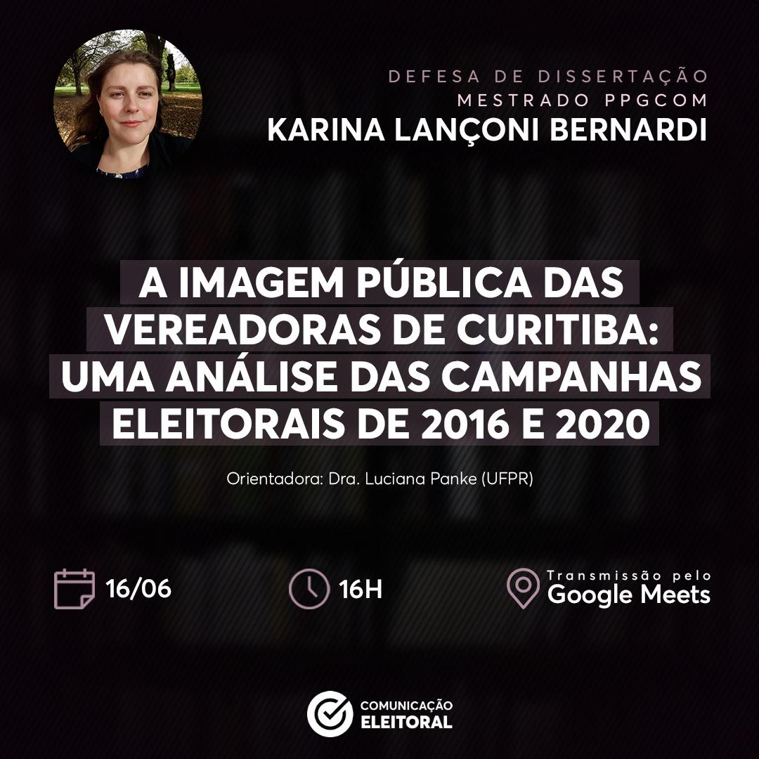 Celeste Karina Bernardi realiza Defesa de Dissertação