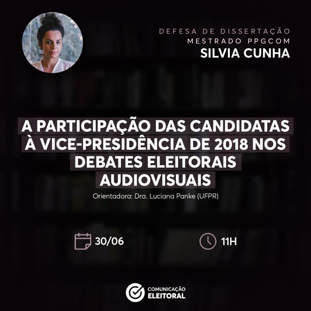 Celeste Silvia Cunha realiza Defesa de Dissertação